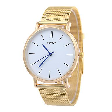Herrn Quartz Armbanduhr Armbanduhren für den Alltag Edelstahl Band Minimalistisch Silber Gold