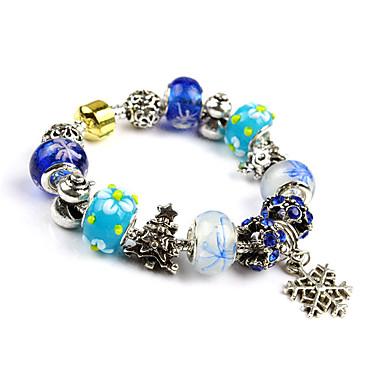 Damen Strang-Armbänder Modisch Chrismas Perlenbesetzt Europäisch Glas Aleación Runde Form Schmuck Für Alltag Normal