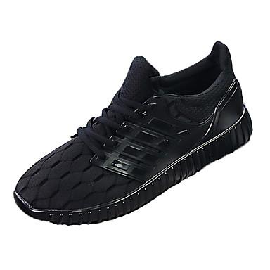 Herre-Tekstil-Flat hæl-Komfort-Treningssko-Friluft Kontor og arbeid Fritid Sport-Svart Blå Grå
