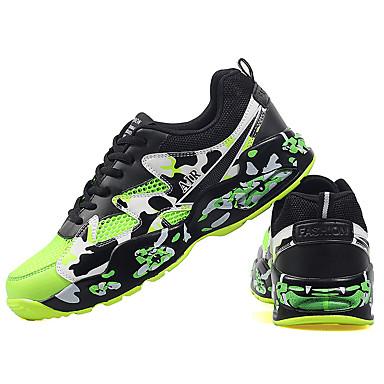 Homme Chaussures Tulle Hiver Printemps Eté Automne Confort Lacet pour Vert Bleu Noir/Rouge Noir/blanc