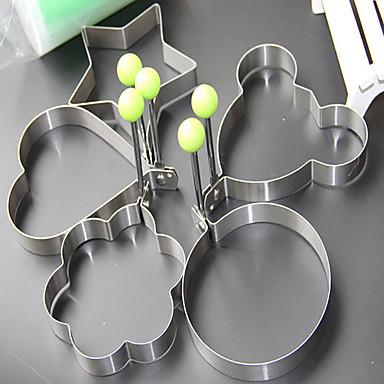 Utensílios de cozinha Aço Inoxidável Mold DIY para ovos 1conjunto