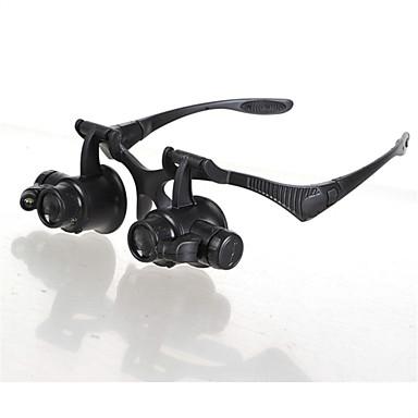 voordelige Handgereedschap-Vergrootglazen / Microscoop Horlogereparatie / Sieraden Algemeen / LED / Headset 10X / 15X / 20X / 25X 15mm Normaal Kunststof