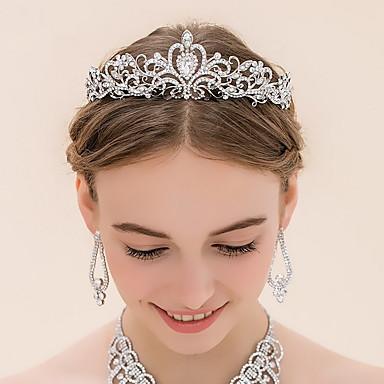Rhinestone / Alloy Tiaras with 1 Wedding Headpiece
