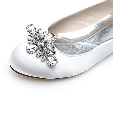 Violet Satin Mariage Plat Automne Evénement amp; 02095341 Printemps Femme Soirée Strass Bleu Eté Chaussures Talon Argenté vH15xq4