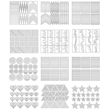 Diecut Manicure Stencil DIY Mold Nail Stamping Template Daily Fashion High Quality