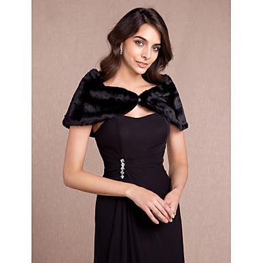 כיסויי גוף לנשים Capelets ללא שרוולים דמוי פרווה חתונה מסיבה / ערב Off-the-shoulder 50ס