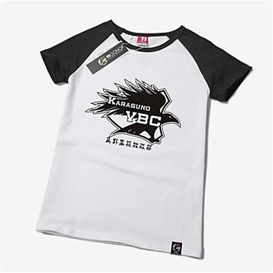 קיבל השראה מ Haikyuu קוספליי אנימה תחפושות קוספליי חולצות קוספליי / תחתון דפוס שרוולים קצרים טי שירט עבור יוניסקס