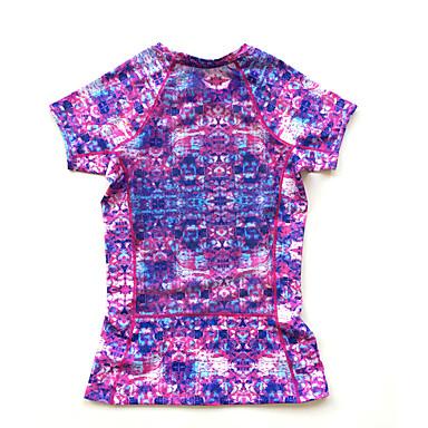 Damen Kurzarm Rasche Trocknung Atmungsaktiv Komfortabel T-shirt für Laufen Schwarz Purpur 18# XS S M L