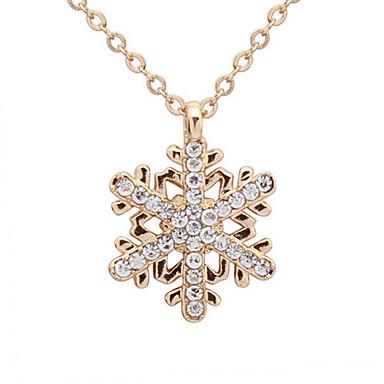 exquis diamant snowflake collier cadeau filles classique style féminin