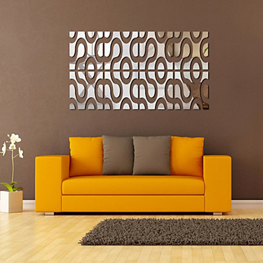 Leisure מדבקות קיר מדבקות קיר מראות מדבקות קיר דקורטיביות, PVC קישוט הבית מדבקות קיר