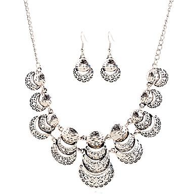 נשים סט תכשיטים שרשרת / עגילים פרנזים ארופאי חתונה Party יומי קזו'אל עגילים שרשראות