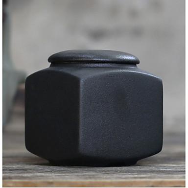 גס חרס תה סיר קונג פו תה ואבזרי אבן תה מזוגג סיר שחור ולבן מרובע טנק אטומה קטן