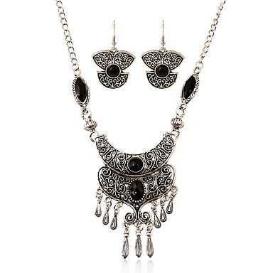 Mulheres Conjunto de jóias - Borla, Europeu Incluir Colar / Brincos Preto Para Casamento / Festa / Diário / Colares