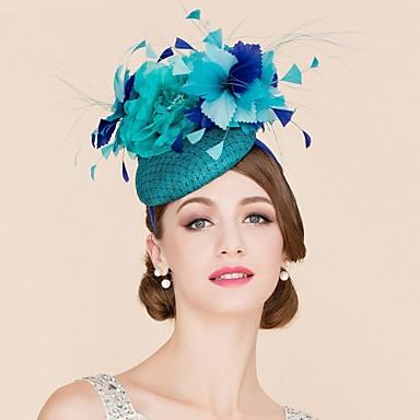 Flachs / Feder / Netz Fascinatoren / Hüte mit 1 Hochzeit / Besondere Anlässe / Normal Kopfschmuck