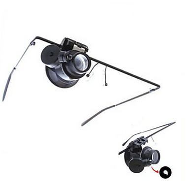 זכוכית מגדלת / מיקרוסקופ תכשיטים / תיקון שעון Generic / LED / אוזניות 20X 15mm נורמלי פלסטיק