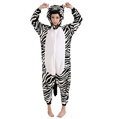 Kigurumi Pijamale Zebră Leotard/Onesie Festival/Sărbătoare Sleepwear Pentru Animale Halloween Alb negru Peteci Kigurumi Pentru Unisex