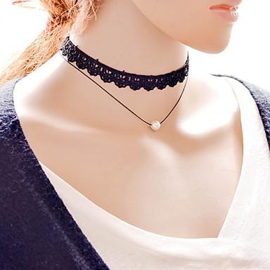 Damen Halsketten / Anhängerketten / Tattoo-Hals  -  Spitze Tattoo Stil, Modisch Schwarz Modische Halsketten Für Alltag, Normal