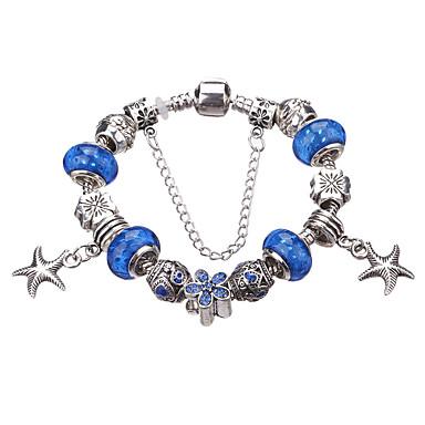 Damen Kristall Bettelarmbänder / Strang-Armbänder - Strass, versilbert, Diamantimitate Luxus, Europäisch, Modisch Armbänder Grün / Blau / Hellblau Für Party / Alltag / Normal