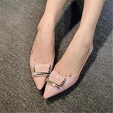 Damen-Flache Schuhe-Lässig-PU-Flacher Absatz-Komfort / Geschlossene Zehe-Schwarz / Rosa / Grau