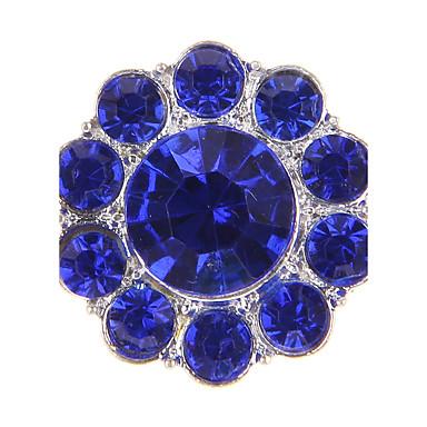 Formato Circular Forma Geométrica Pérola Imitações de Diamante Liga Europeu Branco Amarelo Verde Azul Rosa claro Jóias Para 1peça
