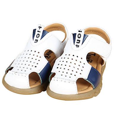Garçon-Décontracté-Noir / Blanc-Talon Plat-Confort / Bout Ouvert / Sandales-Sandales-Cuir