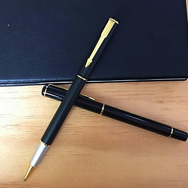 עט עֵט עטים כדוריים עֵט,מתכת חָבִית שחור צבעי דיו For ציוד בית ספר ציוד משרדי חבילה של