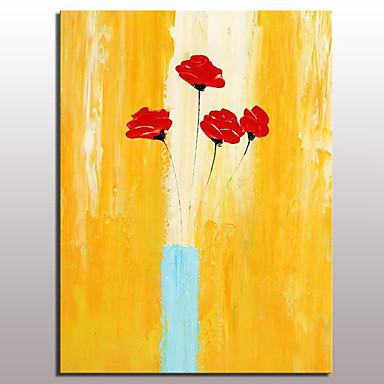 handgemalte Ölgemälde auf Leinwand moderne abstrakte Blumenbild Wandkunst mit gestreckten Rahmen fertig zum Aufhängen