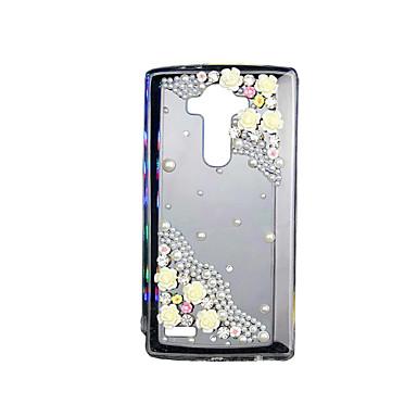 Käyttötarkoitus LG kotelo kotelot kuoret Takapäällinen Paljetti Läpinäkyvä Takakuori Etui 3D sarjakuva Pehmeä TPU varten LG LG G4