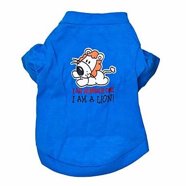 Kat Hund T-shirt Hundetøj Dyr Blå Bomuld Kostume For kæledyr Herre Dame Mode