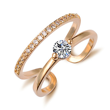 טבעת - מסוגנן, קלסי מתכוונן זהב / כסף עבור חתונה / Party / מסיבה\אירוע ערב