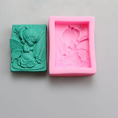 Bakeform sovende baby For Kake For Småkaker For Sjokolade For Terte Silikon Høy kvalitet Gør Det Selv Bursdag