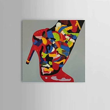 Pintados à mão Abstracto / Vida Imóvel Pinturas a óleo,Modern / Clássico / Estilo Europeu 1 Painel Tela Hang-painted pintura a óleo For