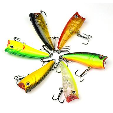 Pesca-6 pçs-3D Plástico Duro-Pesca de Mar Isco de Arremesso Pesca de Isco e Barco