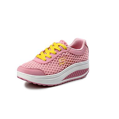 Dames Platte schoenen Tule Lente Herfst Causaal Formeel Fitness & Crosstraining Platte hak Grijs Fuchsia Blauw Roze