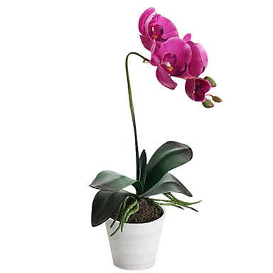 Seda / Couro Ecológico Orquideas Flores artificiais