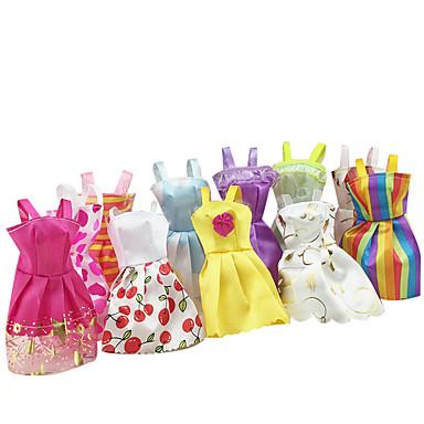 Puppenkleidung Mädchen Puppe Spielzeuge Rock Prinzessin Skirt Kunststoff Mädchen 10 Stücke