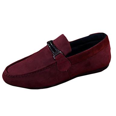Homme Chaussures Laine synthétique Printemps Automne Moccasin Mocassins et Chaussons+D6148 Marche pour Décontracté Noir Rouge Bleu