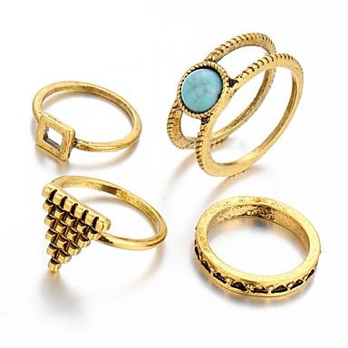 Ringer Mote / Vintage Bryllup / Party / Daglig / Avslappet Smykker Dame / Herre Statement Ringe 1 stk,En størrelse Kobberfarget