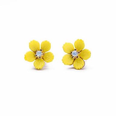 OhrringSchmuck 1 Paar Künstliche Perle / Modisch / Böhmen-Art Aleación Blumenform Goldfarben Party / Alltag / Normal
