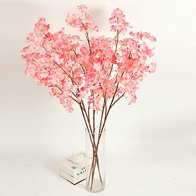 1 1 Ramo Poliéster / Plástico Sakura Flor de Mesa Flores artificiais 46.851inch/118cm