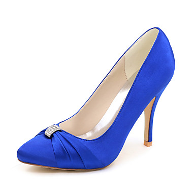 9288691a8e52 Femme Chaussures Satin Printemps   Eté Chaussures formelles Chaussures de  mariage Talon Aiguille Bout pointu Strass Rose   Champagne