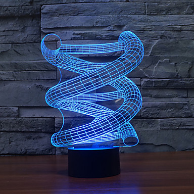 יחידה 1 אור תלת ממדי Spottivalo USB צבעוני פלסטי 1 אור בטריות לא כלולות 23.0*17.0*5.0cm