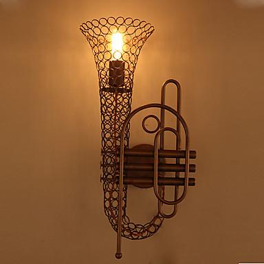 campagne industrielle amercian lampe de mur de saxophone cru décorer la salle de café / bar / mur rooom vivant lumière