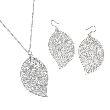 Mujer Conjunto de joyas - Plata de ley Moda Incluir Collar / pendientes Plata Para Boda / Fiesta / Diario / Casual / Pendientes / Collare
