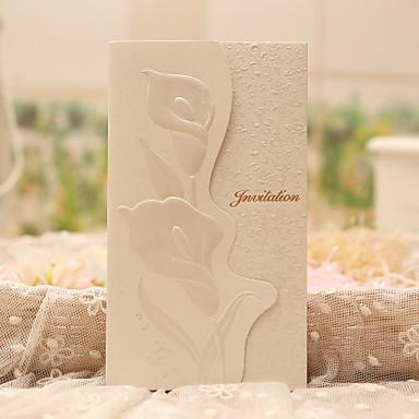משולש הזמנות לחתונה 50-כרטיסי הזמנה סגנון קלאסי נייר פנינה