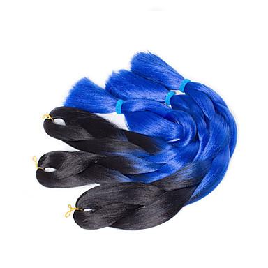 Tresses Twist boîtes Tresses Kanekalon Bleu Extensions de cheveux 51cm Cheveux Tressée