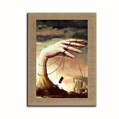 Håndmalte fantasi Lodrett, Moderne Lerret Hang malte oljemaleri Hjem Dekor Et Panel