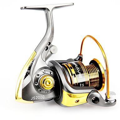 Molinetes Rotativos 5.1/1 12 Rolamentos Trocável Isco de Arremesso / Pesca Geral-6000 MB