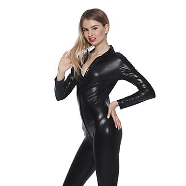 Cosplay Cosplay Kostüme Party Kostüme Herrn Damen Sexy Uniformen Mehre Uniformen Halloween Karneval Silvester Fest / Feiertage Austattungen Schwarz Solide