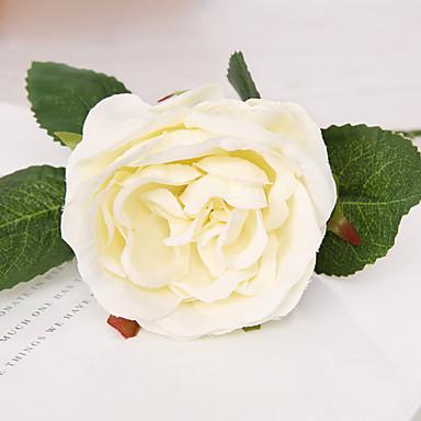 1 1 Ast Polyester / Kunststoff Rosen Tisch-Blumen Künstliche Blumen 11.2*3.3inch/28.5*8.5cm